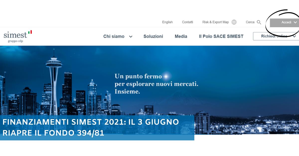 Finanziamenti SIMEST 2021: il 3 giugno riapre il Fondo 394/81